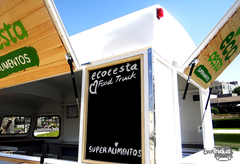 Food Truck Citroen vista Pizarra